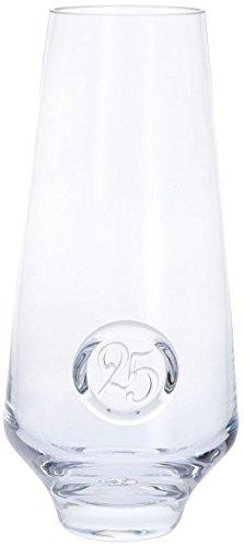 Dartington Crystal 25Th Anniversary Clear Vase