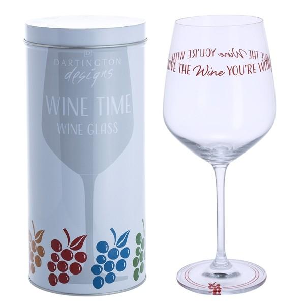 Dartington Crystal Wine Time Love the Wine You're With Wine Glass 0.59L