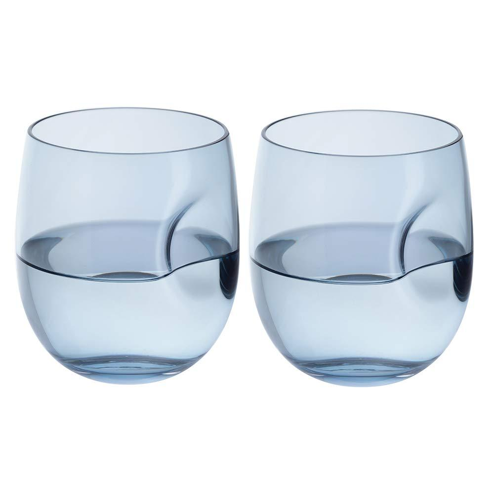 Dartington Crystal Hollow Tumbler (pair) 9.6cm /0.33L