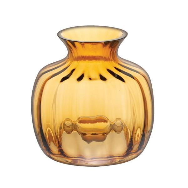 Dartington Crystal Cushion Amber Small Vase