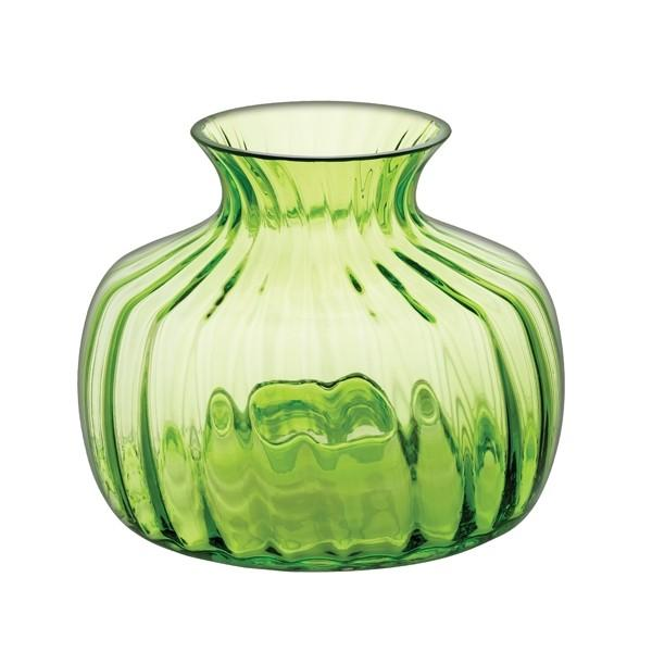 Dartington Crystal Cushion Lime Green Medium Vase