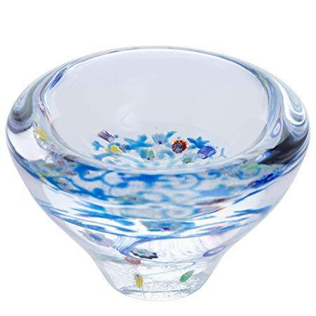 Caithness Glass Lace Forget Me Not Dish