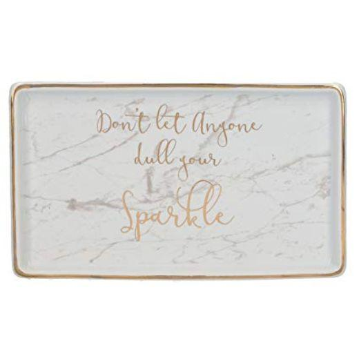Ava and I Don't Let Anyone Dull Your Sparkle Rectangle Trinket Dish