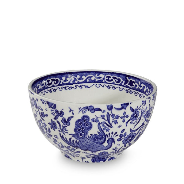 Burleigh Blue Regal Peacock Sugar Bowl 9.5cm