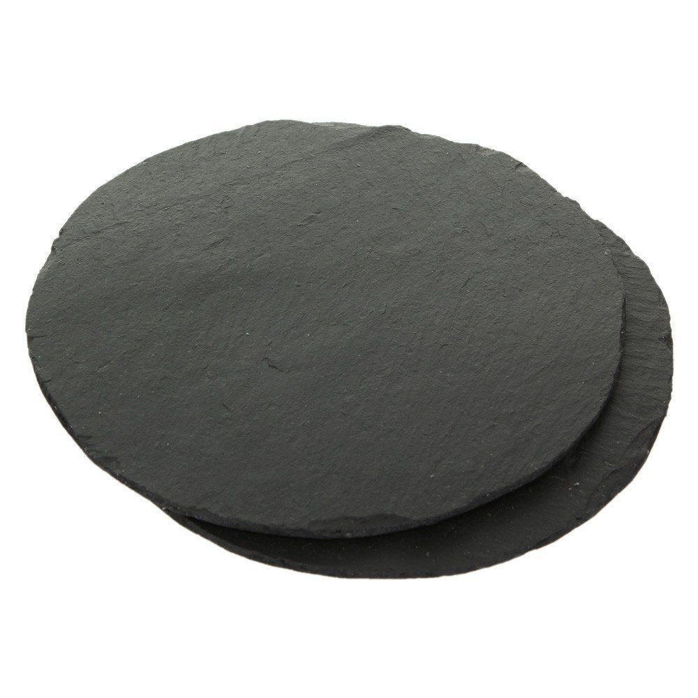Just Slate Round Tablemats 23cm (Set Of 2)