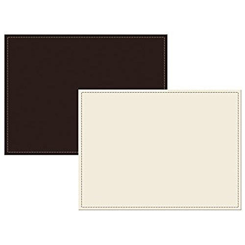 Creative Tops Leather Brown and Cream Placemats 29cm by21.5cm (Set of 4)