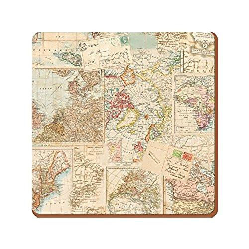 Creative Tops Everyday Home Atlas Coasters 10.5cm by 10.5cm (Set of 4)