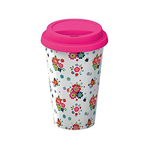Creative Tops Everyday Home Double Walled Ditsy Floral Travel Mug