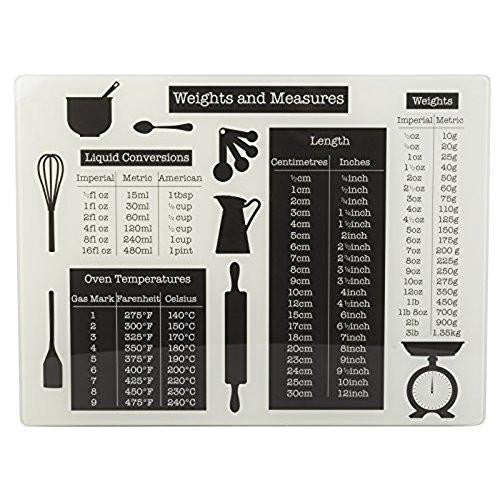 Creative Tops Everyday Home Weights and Measures Chopping Board 40cm by 30cm