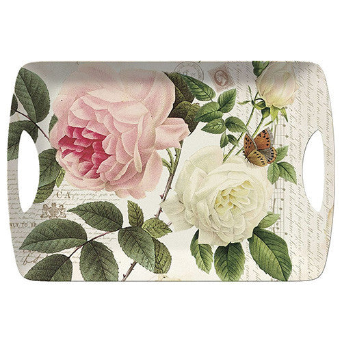 Creative Tops Rose Garden Luxury Handled Large Tray