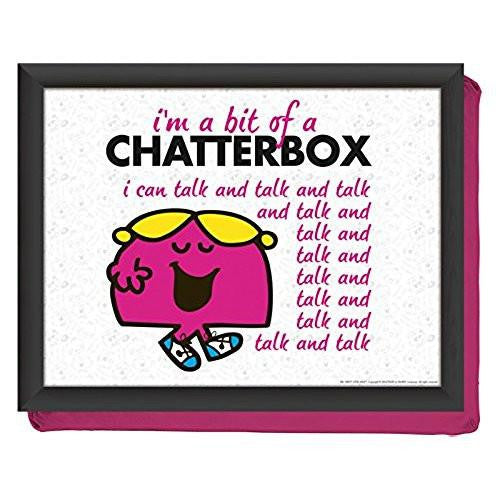 Creative Tops Creative Tops Cushion Little Miss Chatterbox Lap Tray 44cm by 34cm