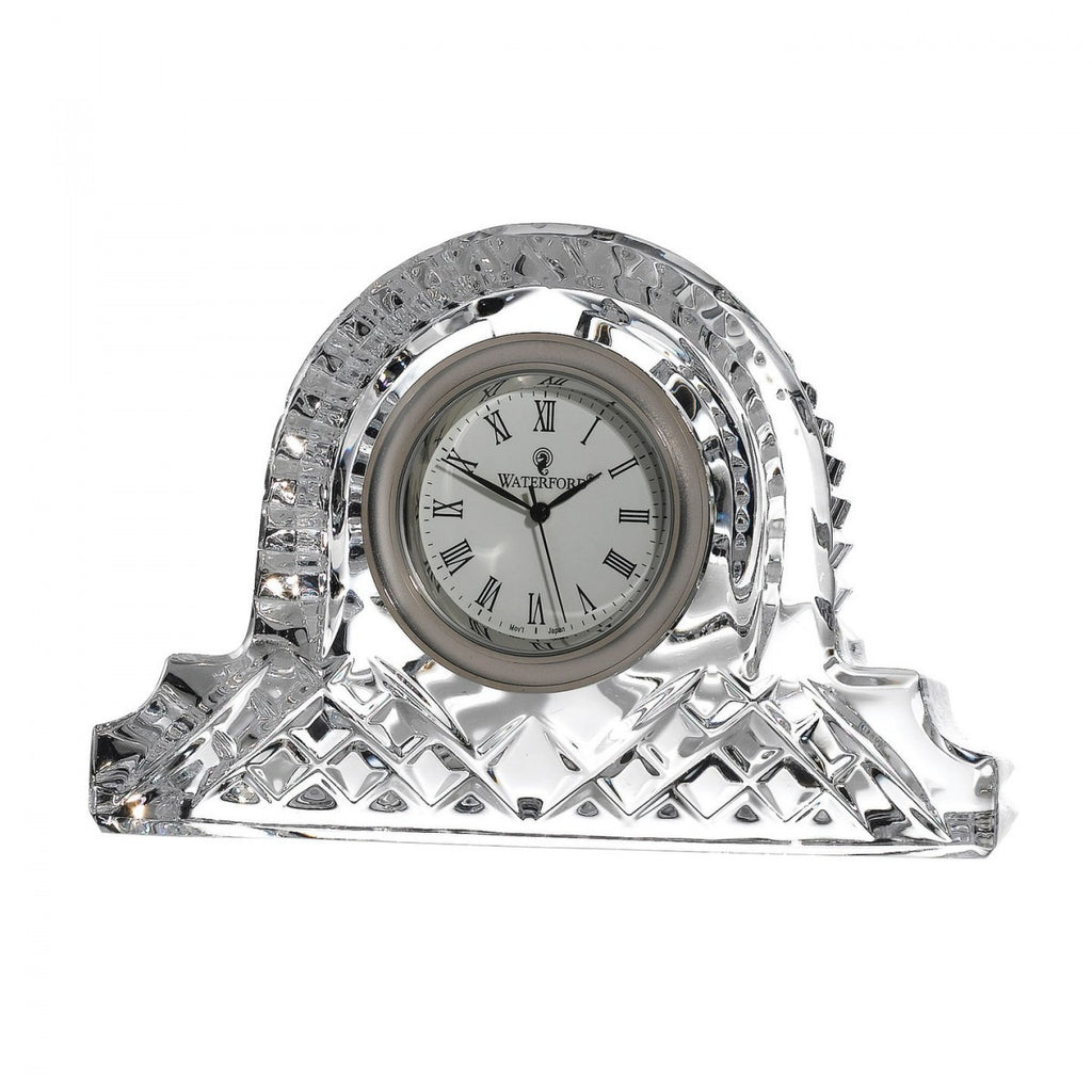 Waterford Crystal Lismore Cottage Clock 12cm