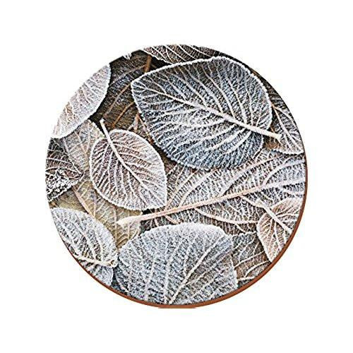 Creative Tops Frosted Leaves Round Placemats 29cm (Set of 4)