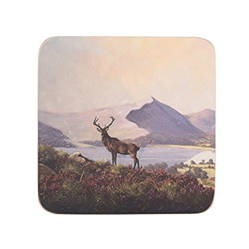 Creative Tops Highland Stag Coasters 10.5cm by 10.5cm (Set of 6)