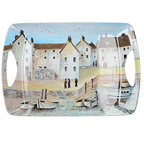 Cornish Harbour Melamine Large Handled Tray