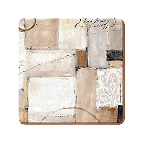 Creative Tops Neutral Abstract Square Placemats 29cm (Set of 4)