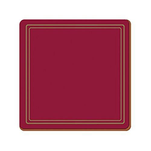 Creative Tops Classic Red Coasters 10.5cm by 10.5cm (Set of 6)