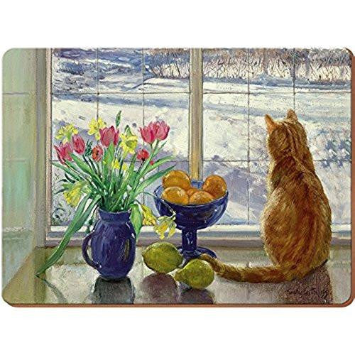 Creative Tops Snowy Cat Placemats 30cm by 22.8cm (Set of 6)
