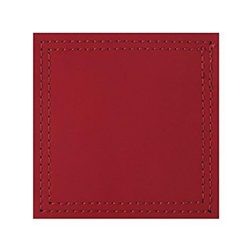 Creative Tops Leather Red Coasters 10cm by 10cm (Set of 4)