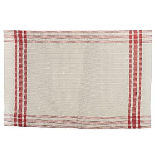 Creative Tops Check Border Vinyl Red Placemat 40cm by 30cm
