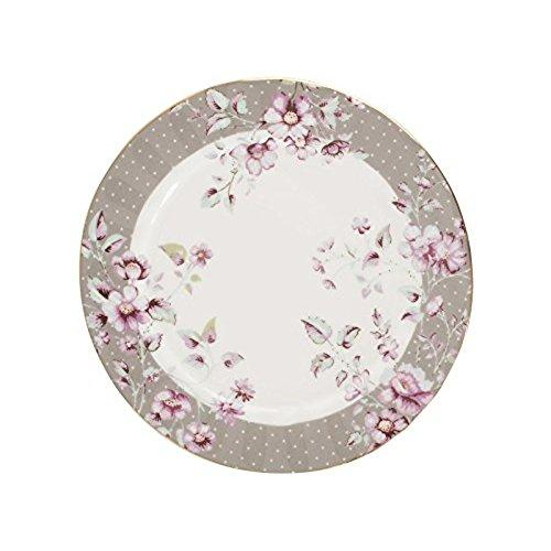 Katie Alice Ditsy Floral Fine Bone China Grey Side Plate