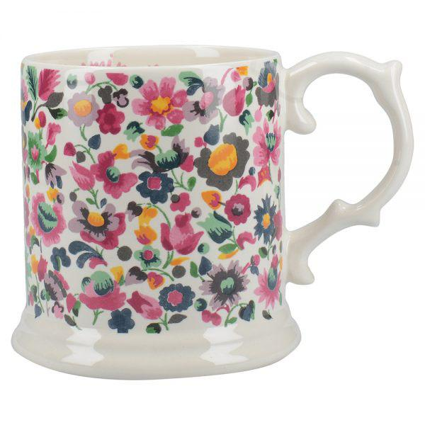 Katie Alice Blooming Fancy All Over Print Tankard Mug with Ribbon