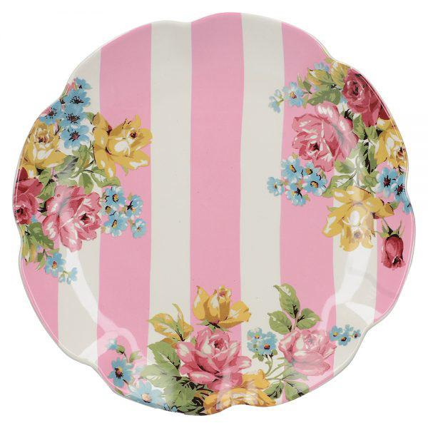 Katie Alice Blooming Fancy Broad Stripe Side Plate
