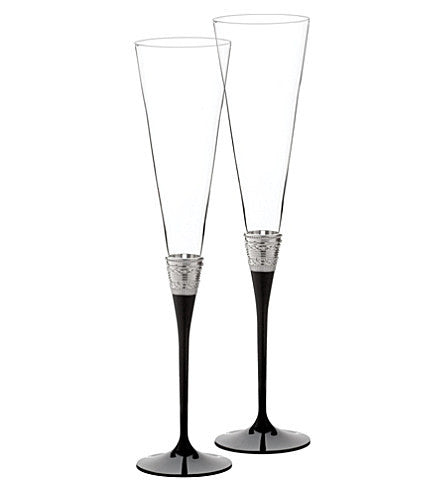 Wedgwood Vera Wang With Love Noir Toasting Flute (Pair)