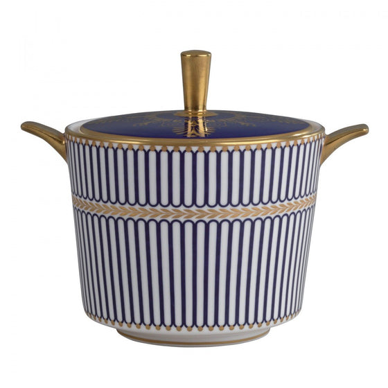 Wedgwood Anthemion Blue Covered Sugar
