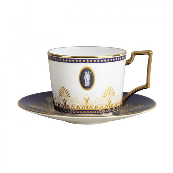 Wedgwood Anthemion Blue Cameo Teacup