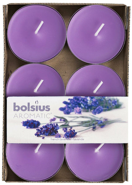 Bolsius Aromatic French Lavender Maxi-Light (Set of 6)