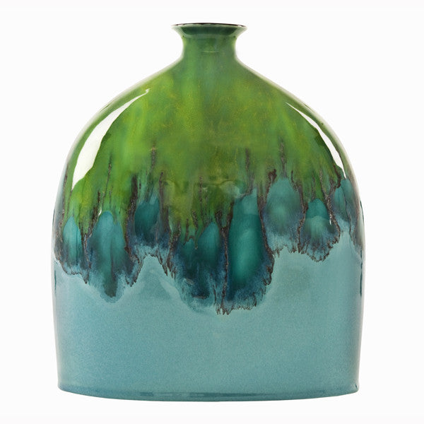 Poole Pottery Tallulah Oval Bottle Vase 28cm