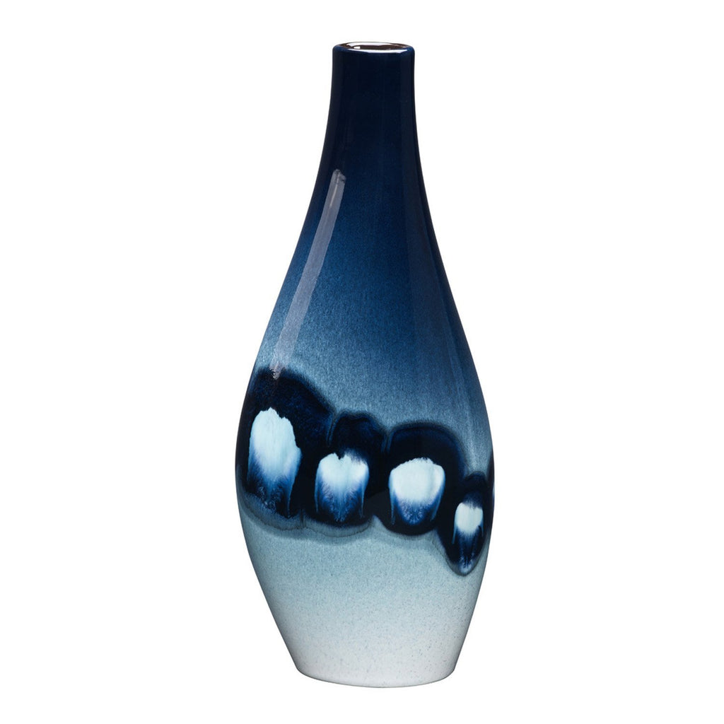 Poole Pottery Blue Orchid Asymmetrical Twist Vase 34cm