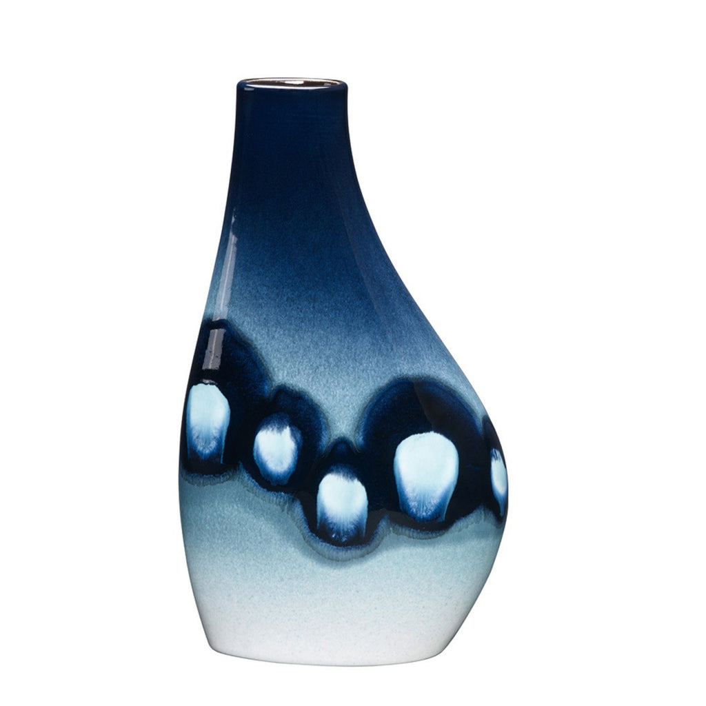 Poole Pottery Blue Orchid Asymmetrical Flask Vase 27cm