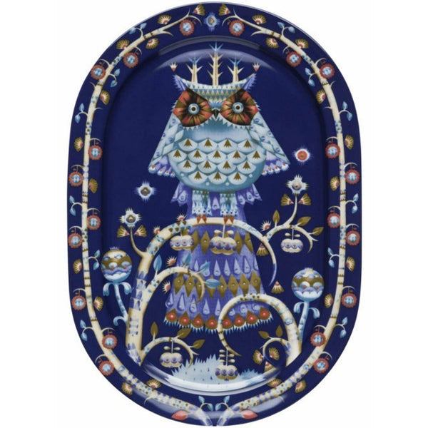 Iittala Taika Blue Oval Serving Platter 41cm