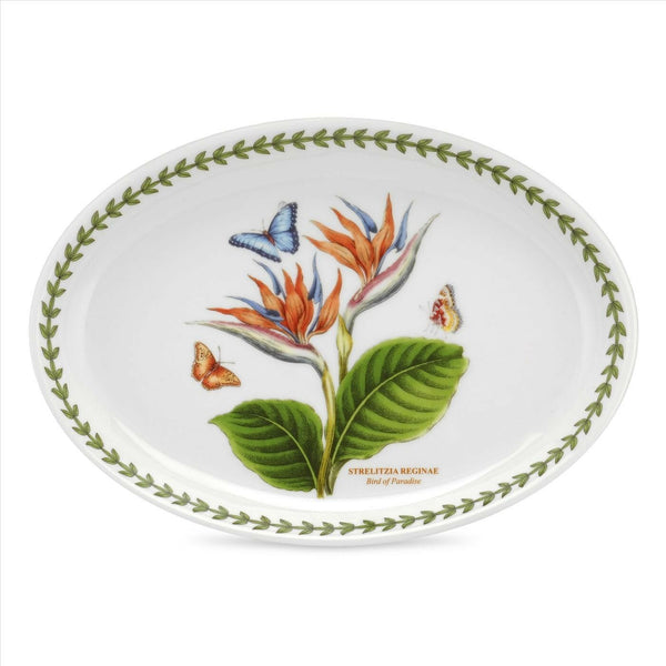 Portmeirion Exotic Botanic Garden Bird of Paradise  Oval Platter 11in / 28cm