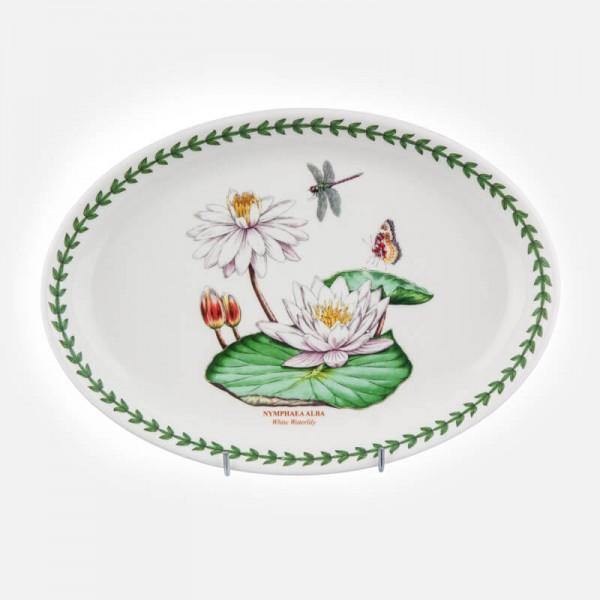 Portmeirion Exotic Botanic Garden Water Lily Oval Platter 11in / 28cm
