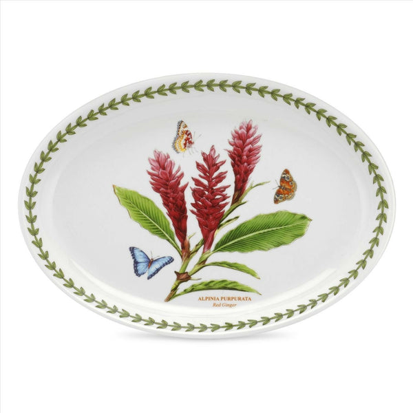 Portmeirion Exotic Botanic Garden Red Ginger Oval Platter 11in / 28cm