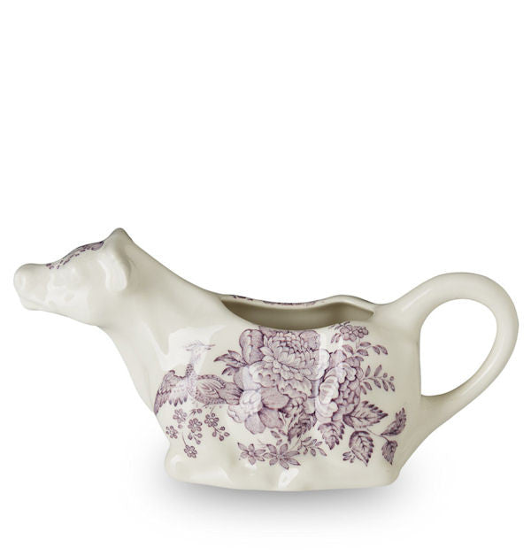 Burleigh Plum Asiatic Pheasant Cow Creamer 200ml