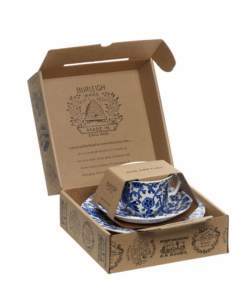 Burleigh Blue Arden Teacup 3 - Piece Gift Set