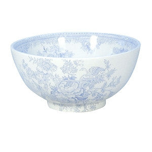 Burleigh Blue Asiatic Pheasant Medium Fotted Bowl 20cm