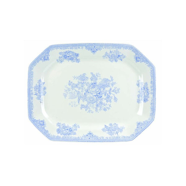 Burleigh Blue Asiatic Pheasant Rectangular Serving Dish 25cm