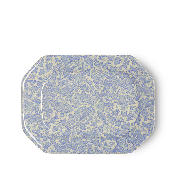 Burleigh Burgess Chintz Blue Rectangular Dish 25cm
