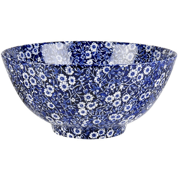 Burleigh Blue Calico Large Footed Bowl 27.5cm