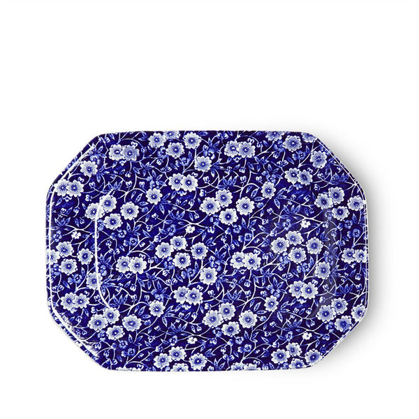 Burleigh Blue Calico Rectangular Dish 25cm