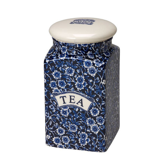 Burleigh Blue Calico Tea Storage Jar