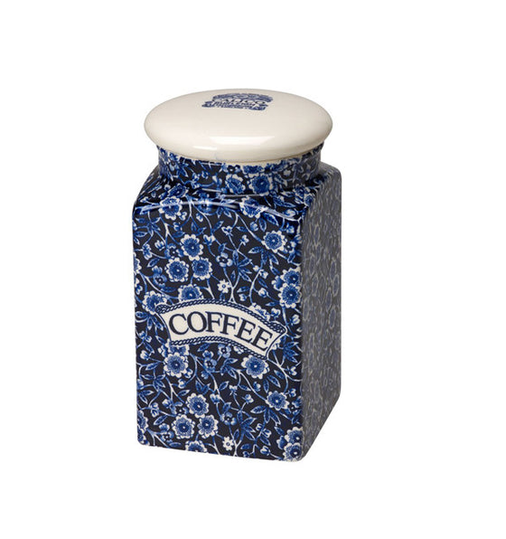 Burleigh Blue Calico Coffee Storage Jar