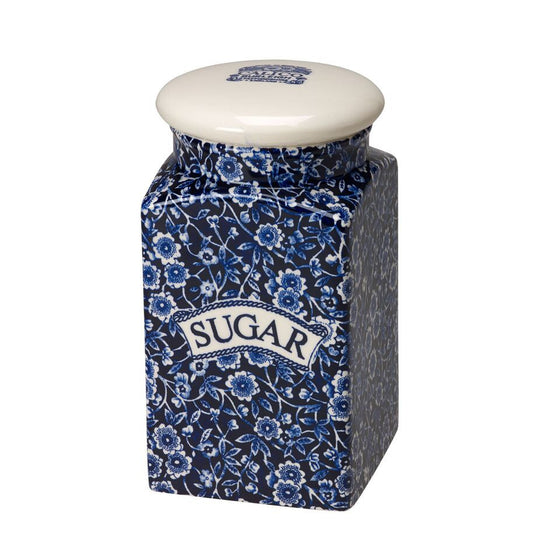 Burleigh Blue Calico Sugar Storage Jar