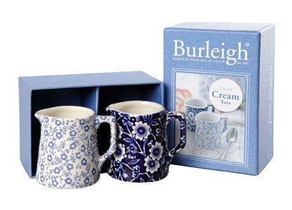 Burleigh Blue Felicity and Blue Calico 2 Mini Milk Tot Set
