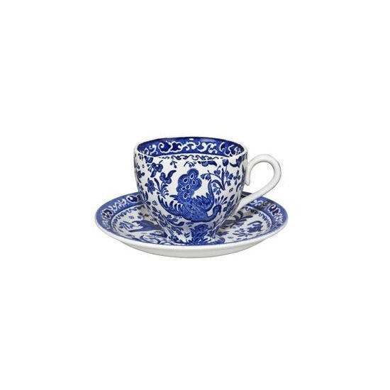 Burleigh Blue Regal Peacock Teacup Saucer (Saucer Only)